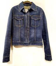 Flavio Castellani Denim Jacket Euro 38 US Small Blue Snap Button Jean Italy