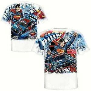 Dale Earnhardt Jr #88 Youth All Over Print Superman T-shirt, X- Large