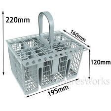 8 Compartment Cutlery Basket Holder Spoon Rack for MIELE Dishwasher 195 x 220mm