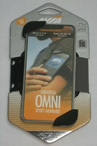 Avia Universal Omni Sport Armband For Cellphone iPhone Galaxy Active Sport-Black