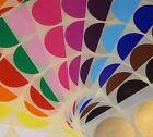 Groß 63mm Rund Farbe Code Punkte Blanko Preis Aufkleber Selbstklebeetiketten