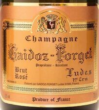 6 bt. CHAMPAGNE ROSE' GAIDOZ-FORGET LUDES