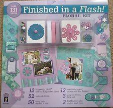 Hot off the press acabado en un flash Scrapbooking Kit HOTP Floral 131 piezas