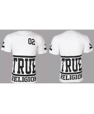TRUE RELIGION Mens T-Shirt STARTER White with Black Print $95 Jeans NWT