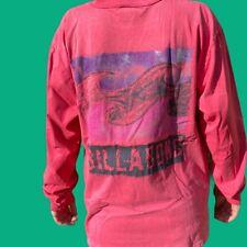 Billabong Vintage 80s 90s Long Sleeve Fluro Pink Shirt Single Stitch T-Shirt L