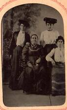 6th plate tintype mother daughters women Bois-Blanc Park Boblo Island Detroit,MI