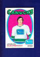 Jocelyn Guevremont RC 1971-72 O-PEE-CHEE OPC Hockey #232 (NM) Vancouver Canucks