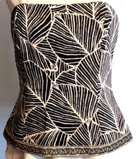 White House | Black Market RN 111459 Women��s Tropical Palm Leaf Bustier Size: 8