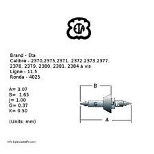 - Balance Staff - 11.5''' Ronda 4025 (Bc061) 3 x Eta Cal. 2370 + Many (Read)
