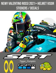 Visor Decals Stickers for Rossi Helmet NEW 2021 Season SRT (5 Stickers)