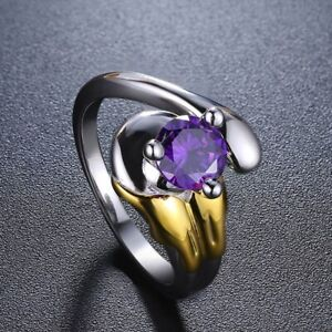 Mewtwo Crystal Ring Mew2 Sterling 925 Silver Engagement Ring