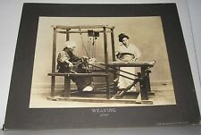 ANTIQUE PHOTO - WEAVING - JAPAN - STAMPED THE PHILADELPHIA MUSEUMS #2B