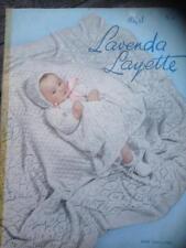 Vintage Lavenda Baby Layette Pattern Lacy Design Shawl, Coat, Vest, Dress, Pilch