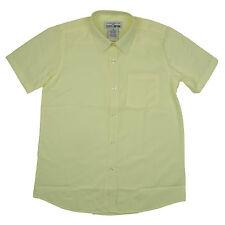 Boys Girls Yellow Broadcloth Shirt Short Sleeve Galaxy School Uniform Size 4 -20