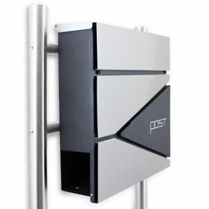 Bituxx Design Standbriefkasten Edelstahl MS-16766 mit Post Corner Graphit