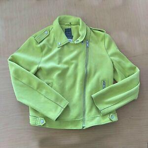 BNWT Primark Faux Suede Neon Green Jacket UK 18