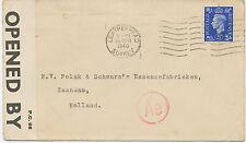 "2406 1940 George  VI 2 1/2 D VF Nazi-Censor-Cover ""LEATHERHEAD / SURREY"" 5 M BEL"