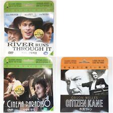 x 3 Dvd, Cinema Paradiso, A River runs through it, Citizen Kane x each 1 disc