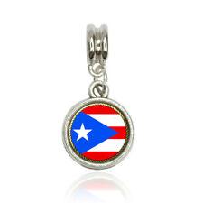 Flag of Puerto Rico Euro European Italian Style Bracelet Bead Charm