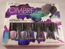L.A. GIRL NAIL POLISH 5 OMBRE SHADES LIMITED EDITION + TOP COAT- LOVE AFFAIR