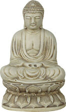 Meditating Buddha Statue Seated on Lotus Devotional Desk Statue O-012S