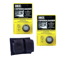 2 Pack HKS 7-shot Speedloader 357 Magnum Fits  587-A with Double Belt Pouch