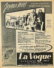 """PARIS SAINT-DENIS MAGASIN """" LA VOGUE """" PUBLICITE ADVERTISING 1955"""