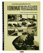 Unimat Miniature Machining Techniques & Operators Manual #1409