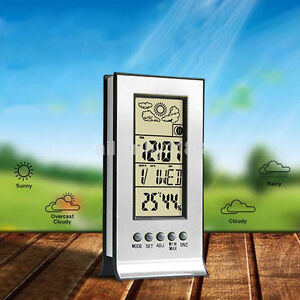 New LCD Room Digital Thermometer Hygrometer Temperature Humidity Meter Clock CA