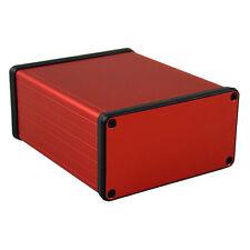 Aluminio instrumento Gabinete Rojo Hammond 1455 120x103x53mm proyecto Funda Caja