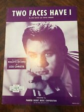 """LOU CHRISTIE """"TWO FACES HAVE I"""". Sheet Music 1963"""