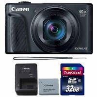 Canon PowerShot SX740 HS 20.3MP Digital Camera Black with 32GB Memory card