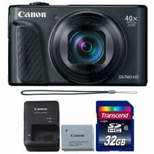 Canon PowerShot SX740 HS 20.3MP Digital CameraBlack with 32GB Memory card