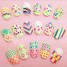 Nail Art Water Decals Nail Stickers Transfers Neon Lace Bows Hearts Flowers