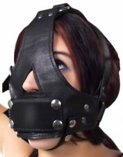 Strict Leather Bishop Head Harness w Removable Gag BDSM Bondage Mask Kinky Slave
