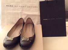 Marc by Marc Jacobs Black SOLD OUT!! Plaque Patent Leather Flats Size 37