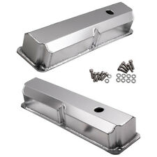 "Fit Ford FE BBF 390 406 428 Fabricated Aluminum Valve Covers 1/4"" Billet Rail"