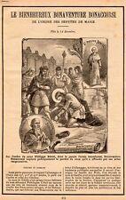 LE BIENHEUREUX BONAVENTURE BONACCORSI ARTICLE PRESSE 1900 CLIPPING