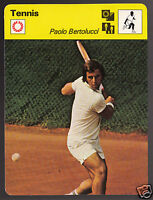 PAOLO BERTOLUCCI Italian Tennis Player Star Photo 1979 SPORTSCASTER CARD 73-22A