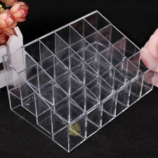 Clear Lip Gloss Nail Polish Makeup Cosmetic 24 Stand Display Rack Holder Case