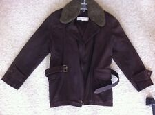 Women's Genuine Leather Jacket Coat Brown Large By Preswick And Moore