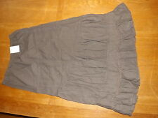"New Ex-BHS Ladies Faded Mocha Linen Blend A Line Long Skirt sz 14, Lgth 34""(£28)"