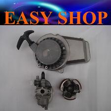 Carby + Clutch + Alloy Pull Starter 47cc 49cc ATV QUAD Bike Dirt Pocket Mini Pit