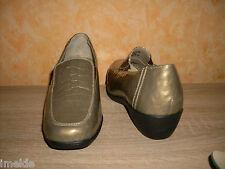 Femmes Chaussure Green Comfort Pantoufles NEUF T. 42 H en PLATINE & vernis très confortable