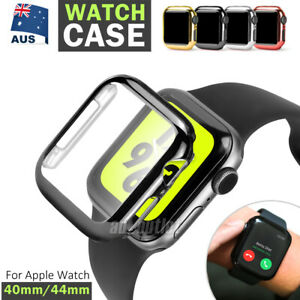 For Apple Watch 6 SE 5 4 40/44mm Full Case Cover&Built-in Glass Screen Protector