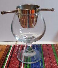 Unusual Silver Plate Spinning Brazilian Shot Glass - Eberkoc - Brazil/ Brasil