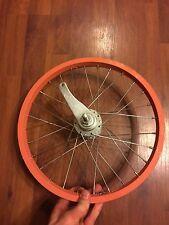 "Raleigh 16"" Rear Bicycle Wheel -  - Coaster Brake - 28 Spoke - Salmon"