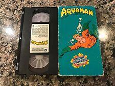 Aquaman Vhs! 1985 Batman Super Friends Superman Iron Man Captain America Thor