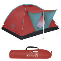 Tenda da Campeggio Spiaggia 3 Posti Bestway Range Canadese 210x120cm Custodia