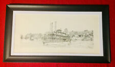 "Warren L. Kirbo (1946-2010) Artist Proof Pen and Ink ""Steamboats"" C.1986"